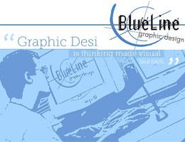 Blue Line Graphic Design